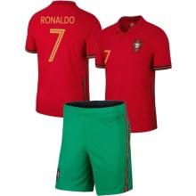 Детская домашняя форма Португалии Роналду на ЕВРО 20-21
