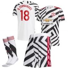 Детская третья форма Ман Юнайтед Бруну Фернандеш 2020-2021