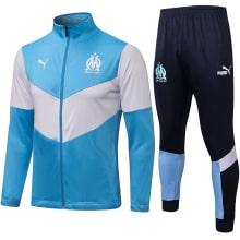 Сине-бело-голубой спортивный костюм Марселя 2021-2022