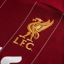 Детская домашняя форма Ливерпуля 19-20 c длинными рукавами герб клуба