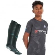 Детская третья футбольная форма Челси 2017-2018 футболка, шорты и гетры