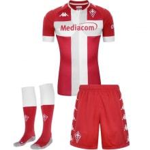 Комплект детской третьей формы Фиорентина 2020-2021 футболка шорты и гетры