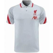 Бело-красная футболка поло Ливерпуля 20-21