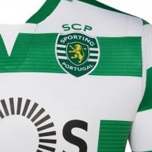 Домашняя игровая футболка Спортинг 2019-2020 герб клуба