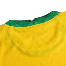Детская домашняя форма Бразилии 2020-2021 футболка воротник сзади
