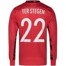 Вратарская футболка Германии Марк-Андре Тер Стеген ЕВРО 2020 номер 22