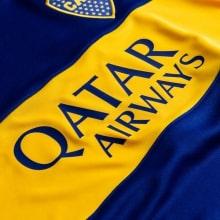 Домашняя игровая футболка Бока Хуниорс 2020-2021 титульный спонсор