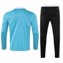 Черно-голубой костюм Реал Мадрид 2021-2022 сзади