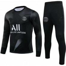 Черно серый тренировочный костюм ПСЖ 2020-2021