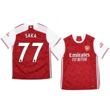 Домашняя футболка Арсенала Букайо Сака 2020-2021