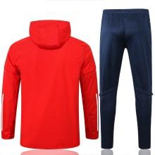 Красно-синий спортивный костюм Ювентуса 2021-2022 сзади
