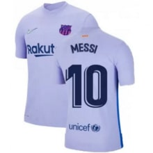 Детская гостевая футбольная форма Месси 2021-2022 футболка