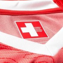 Домашняя футболка Швейцарии на ЧМ 2018 Шакири воротник спереди