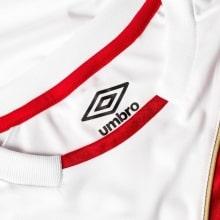 Белая домашняя футболка сборной Перу на чемпионат мира 2018 воротник