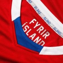 Красная вратарская футболка сборной Исландии на чемпионат мира 2018 воротник