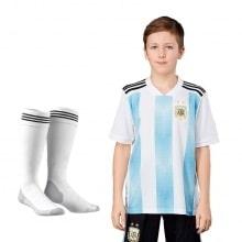Комплект детской футбольной формы Аргентины на ЧМ 2018