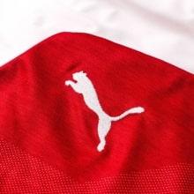 Женская домашняя футболка Арсенала 2018-2019 логотип производителя