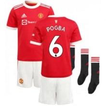 Детская домашняя футбольная форма Погба 2021-2022