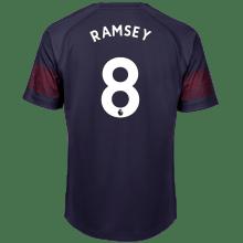 Гостевая футболка Арсенала Аарон Рэмси номер 8 2018-2019