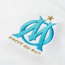 Футболка детской домашней формы Марселя 2018-2019 герб клуба