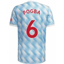 Гостевая футболка Манчестер Юнайтед Погба 2021-2022