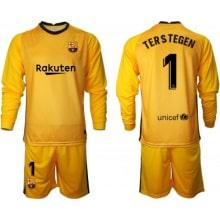 Желтая форма Тер Штеген с длинными рукавами 2020-2021