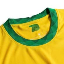 Детская домашняя форма Бразилии 2020-2021 футболка воротник
