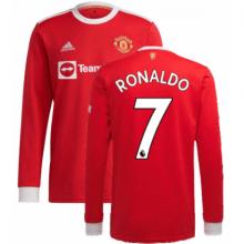 Домашняя форма Ман Юнайтед 21-22 Роналду с длинными рукавами футболка