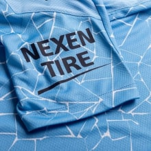 Домашняя аутентичная футболка Манчестер Сити 2020-2021 рукав