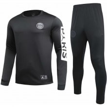 Черно белый тренировочный костюм ПСЖ 2020-2021