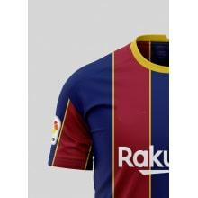 Домашняя игровая футболка Барселоны 2020-2021 сбоку