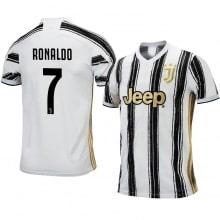 Детская домашняя футбольная форма Роналдо 2020-2021 футболка сзади