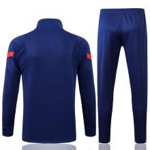 Синий спортивный костюм Барселоны 2021-2022 сзади