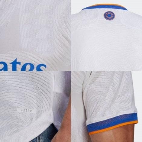Домашняя аутентичная футболка Реал Мадрид 2021-2022 логотипы