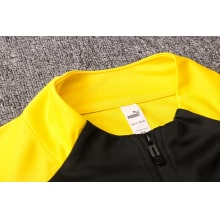 Черно-желтый костюм Боруссии Дортмунд 2021-2022 воротник
