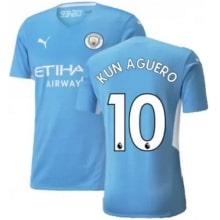 Домашняя футболка Манчестер Сити 21-22 Кун АГУЭРО
