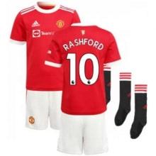 Детская домашняя футбольная форма Рашфорд 2021-2022