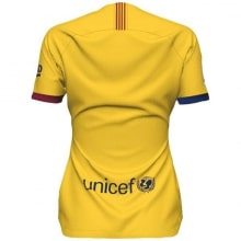 Женская гостевая футболка Барселоны 2019-2020 сзади