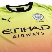 Детская третья форма Манчестер Сити 2019-2020 футболка вблизи