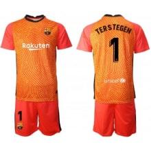 Вратарская оранжевая футбольная форма Тер Штеген 2020-2021