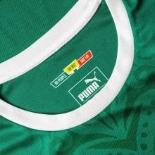 Зезеная гостевая футболка сборной Сенегала на чемпионат мира 2018 воротник