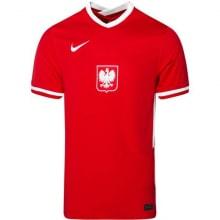 Гостевой комплект детской формы Польши на ЕВРО 2020-21 футболка Левандовски