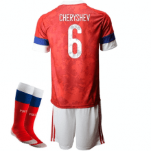 Детская домашняя форма России Черышев ЕВРО 2020-21