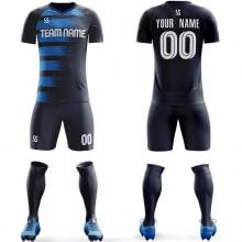 Футбольная форма черно синего цвета Флаги на заказ