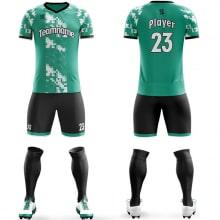 Футбольная форма черно зеленого цвета пиксели на заказ