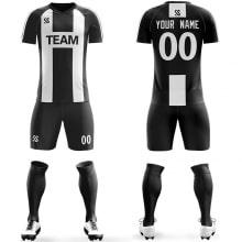 Футбольная форма черно белого цвета Буква H на заказ