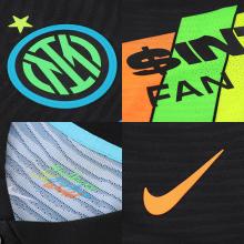 Третья аутентичная футболка Интера 2021-2022 логотипы