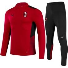 Красно-черный тренировочный костюм Милан 2021-2022