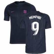 Черная тренировочная футболка Барселоны Депай 2021-2022
