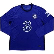 Домашняя форма Челси 2020-2021 c длинными рукавами футболка
